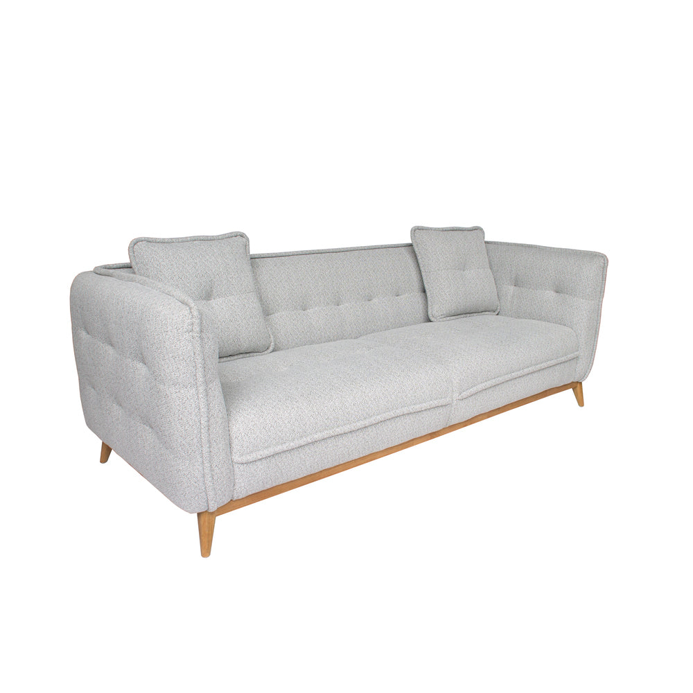 Soho Sofa Grey with Natural Legs