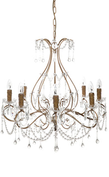 Houston Chandelier 8 Arm Antique Gold