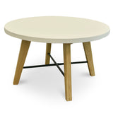Wilson Round Concrete Dining Table White