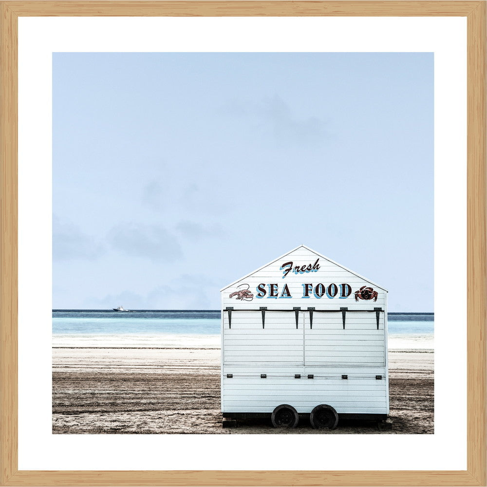 Fish and Chips Photographic Print with Frame