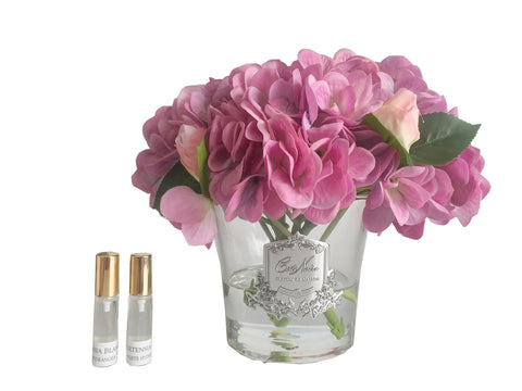 Cote Noire Hydrangeas and Rosebuds Blush