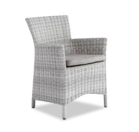 Leon Outdoor Dining Chair Weathered Grey