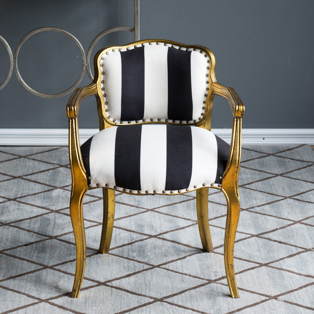 Striped Winged Armchair | INTERIORS ONLINE