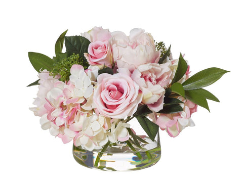 Artificial flowers australia interiors online peony in classic bowl pink small mightylinksfo Gallery