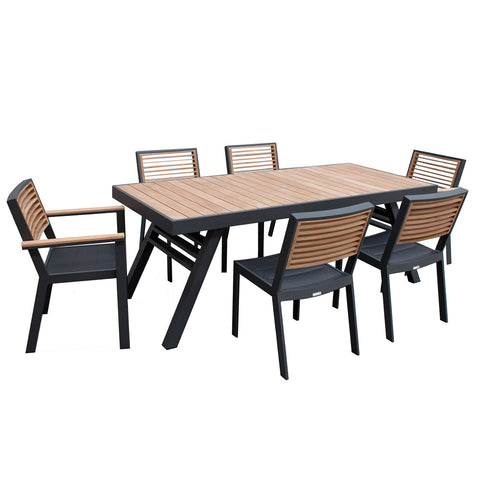 Bocage 3 Piece Low Casual Setting Charcoal