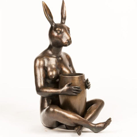 She Bought Him A Beautiful Bunch Limited Edition Bronze Sculpture
