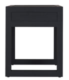 Strand Pedestal Bedside Table Oak Black