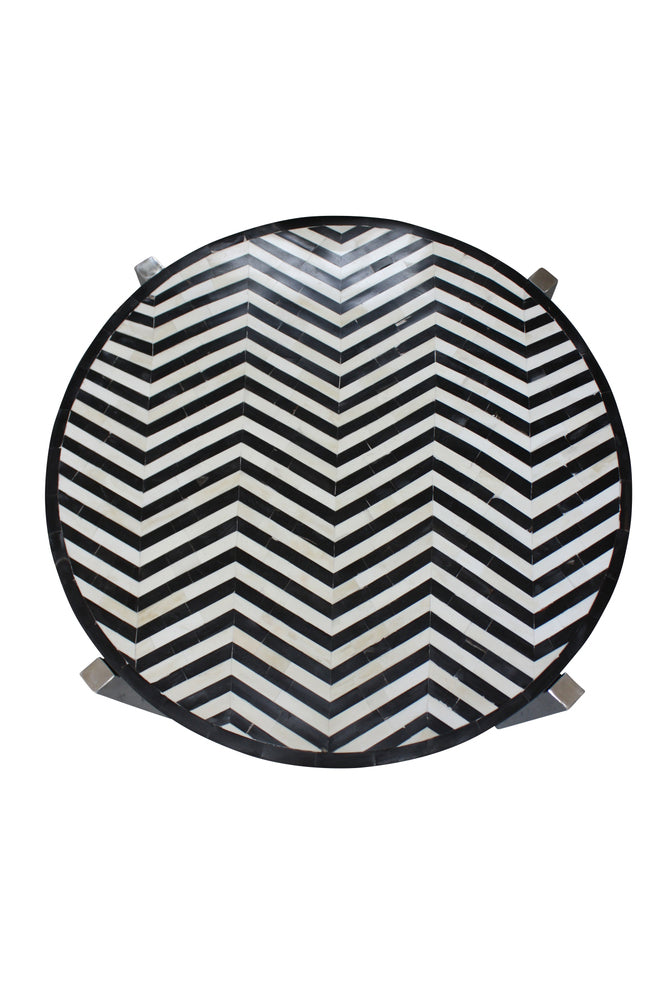 Bone Inlay Chevron Coffee Table