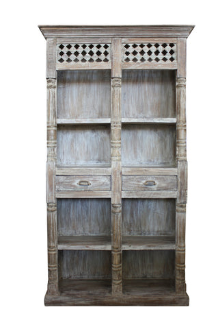 Hand Carved Indian Bookshelf