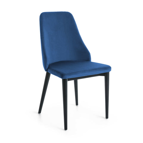 Fox Dining Chair Blue Velvet