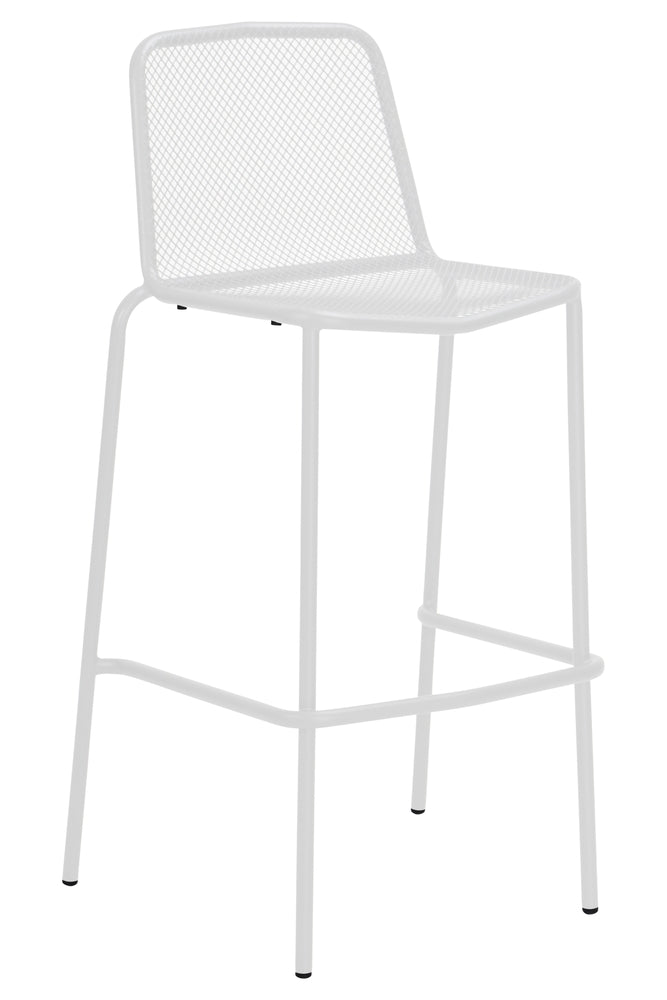 Visby Outdoor Bar Chair White