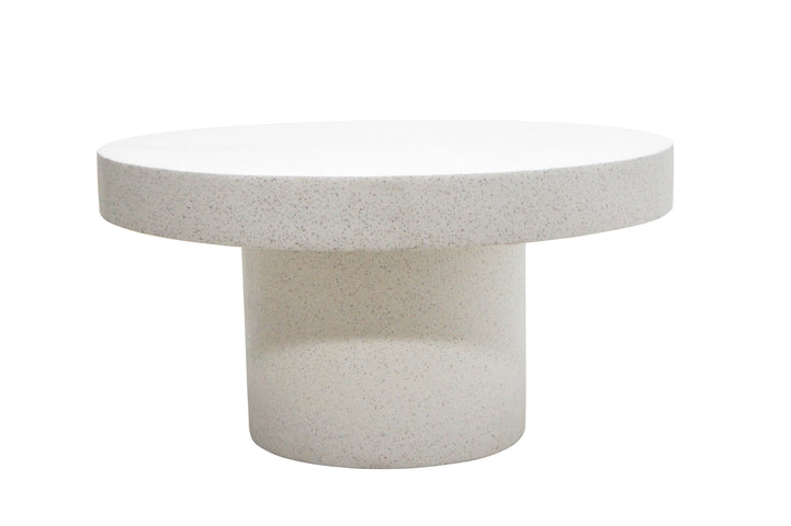 Contempo Round Terrazzo Coffee Table White