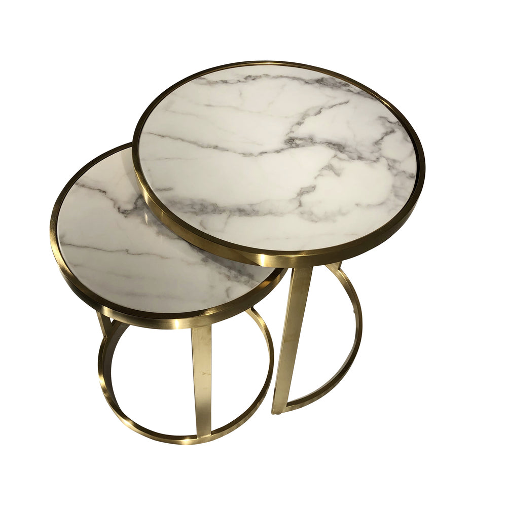 Monique Side Table Set/2 White