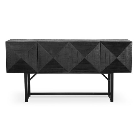 Pyramid Sideboard Natural and Black