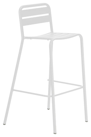 Halmstad Outdoor Bar Chair White