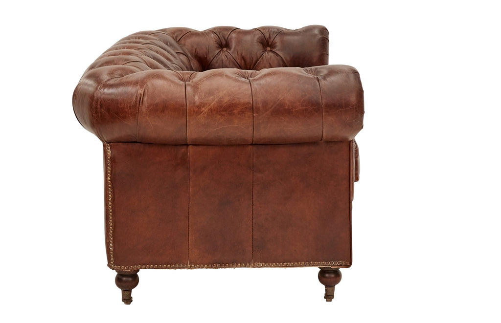 Vintage Leather Court Chesterfield 2 Seater