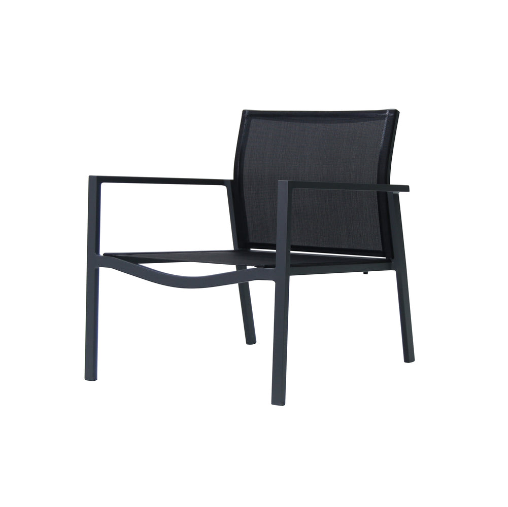 Male Lime Indoor/Outdoor Lounge Chair Black And Dark Grey