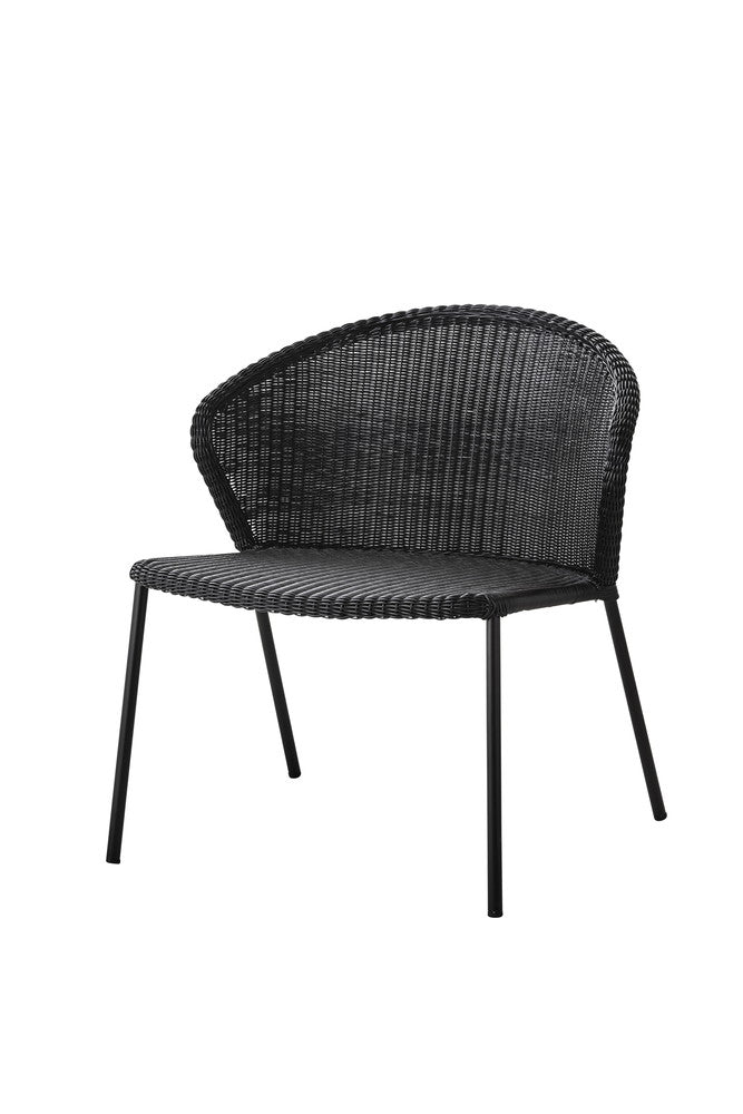 Lean Stackable Lounge Chair Black