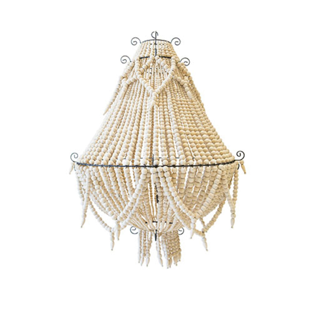 George Town Beaded Chandelier Natural