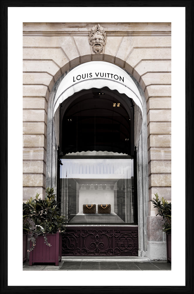 Louis Vuitton Store Photographic Framed Print