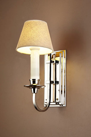 East Borne Wall Sconce Nickel With Shade