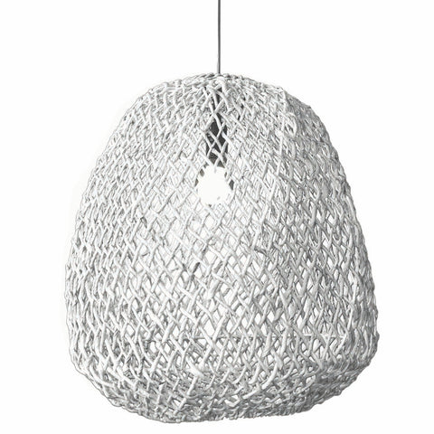 Abby Large Pendant Light White