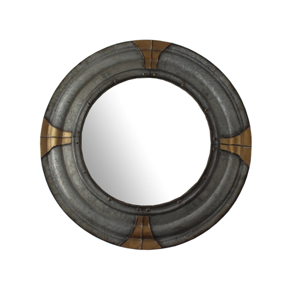 Viking Round Metal Indoor/Outdoor Mirror