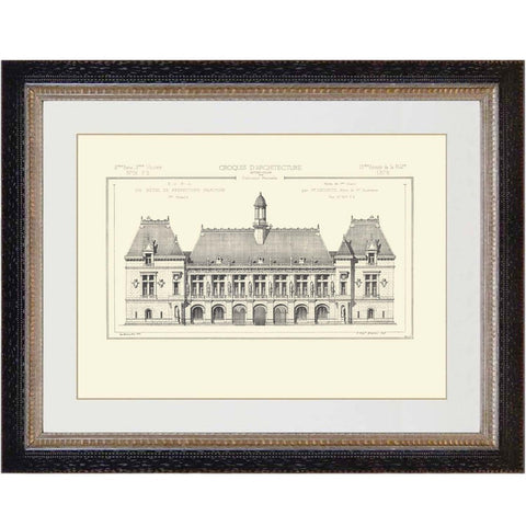 French Architectural Print 11