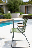 Click Armrest Outdoor Dining Chair Dusty Light Green