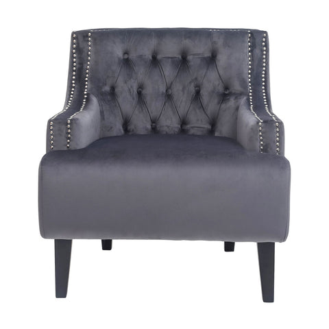 Fairfield Armchair Charcoal Velvet