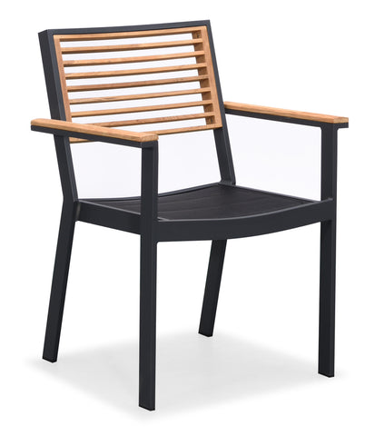 St Lucia Dining Arm Chair Charcoal