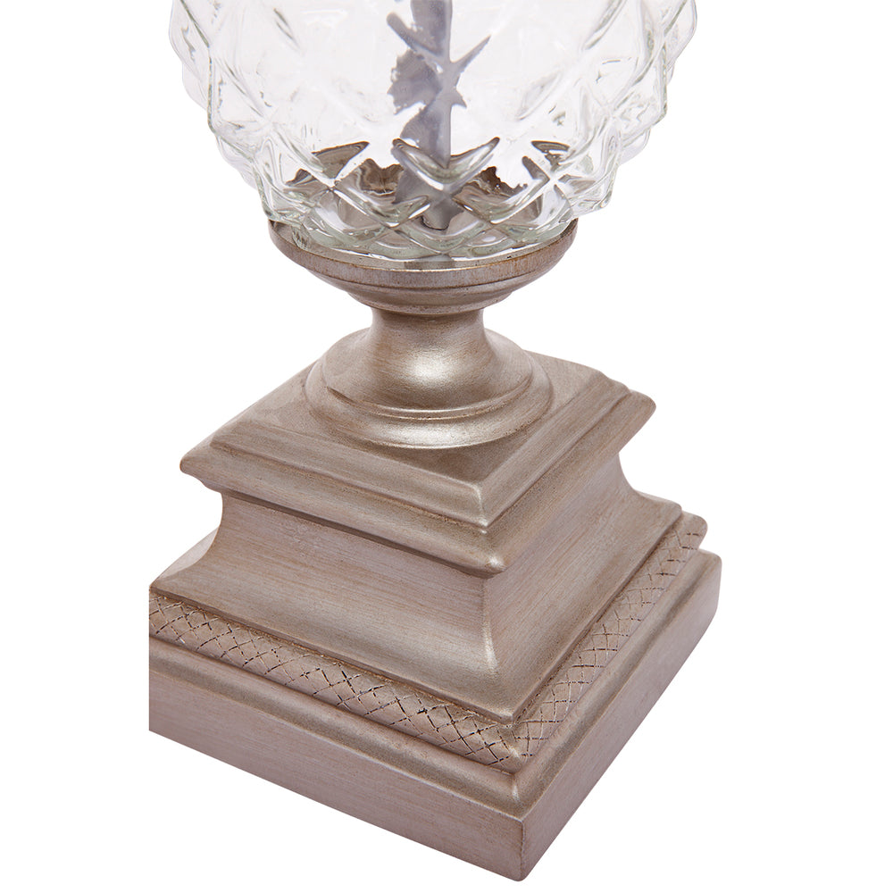 Astor Table Lamp Antique Silver