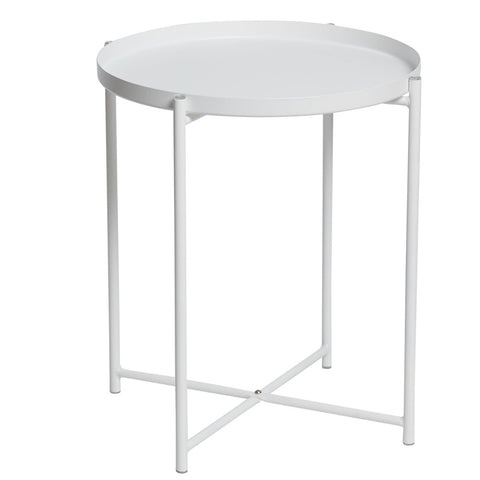 Marion Round Tray Lamp Table White