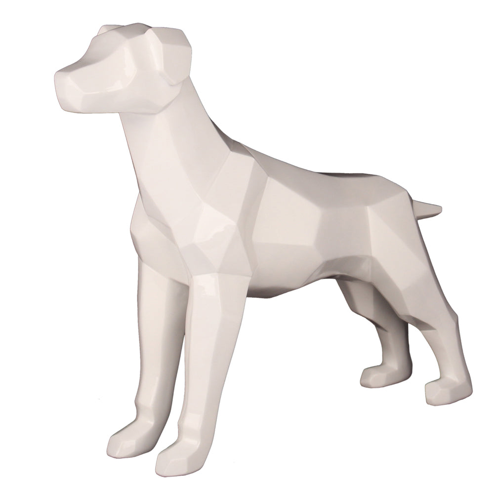 Geometric Dog White