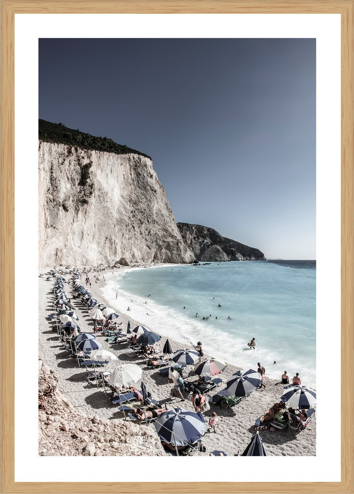 Coastal Greece Photographic Print with Frame