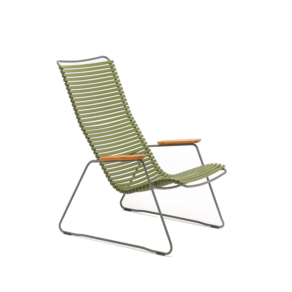 Click Outdoor Lounge Chair Olive Green