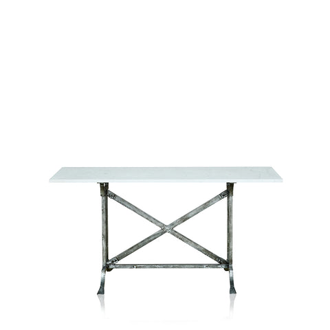 Champagne Wrought Iron Dining Table With Marble Top