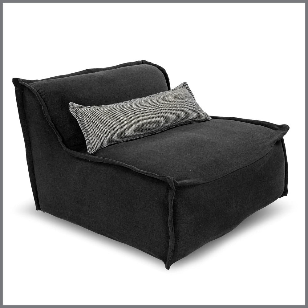 Leroy Charcoal Chair With Cushion