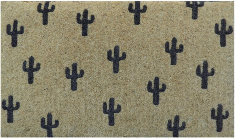 Black Cactus Regular Doormat