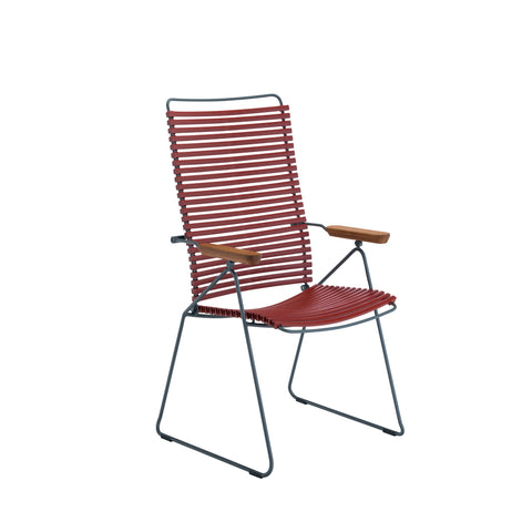 Click Position Outdoor Dining Chair Pigeon Blue