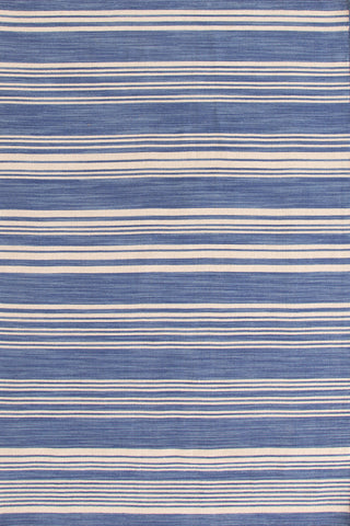 Camden Stripe Wool Rug French Blue