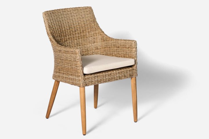 Leon Outdoor Dining Chair Natural