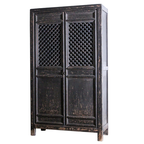 Cullen Double Door Cabinet Distressed Black