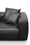 Addington 3 Seat Sofa Charcoal Leather