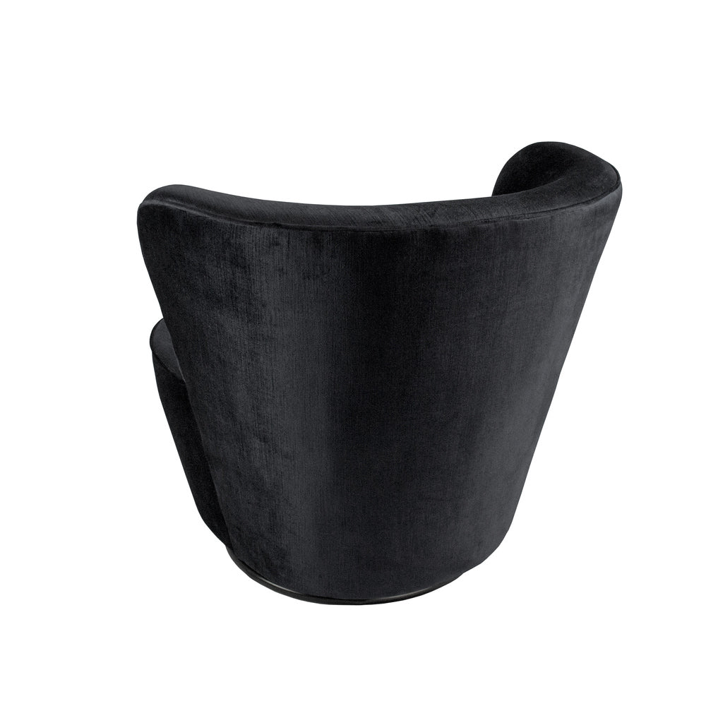 Maxwell Swivel Chair Black Velvet