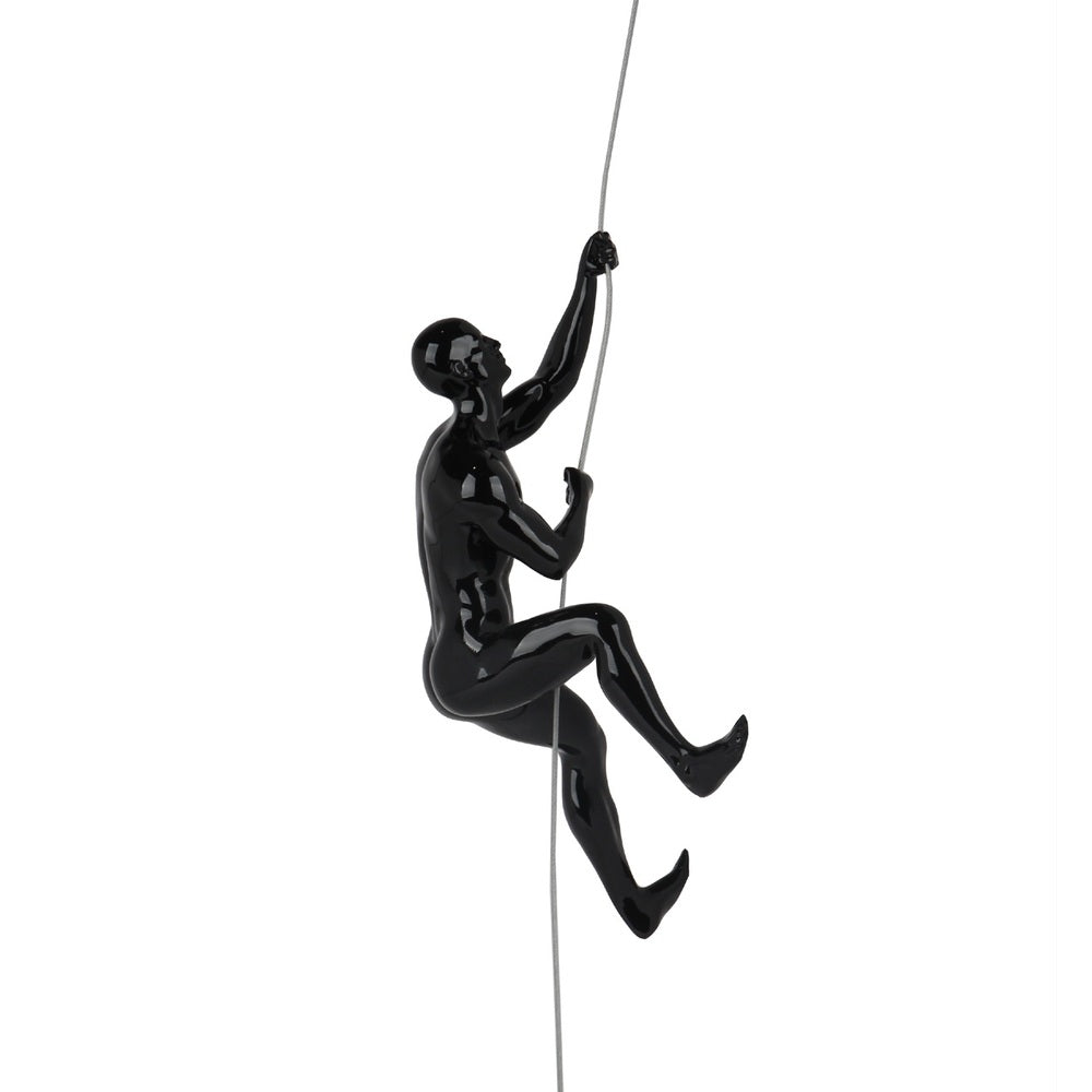 "Climbing Man ""D"" Black Gloss"