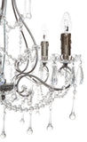 Houston Chandelier 5 Arm Antique Silver