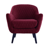 Club Chair Shiraz with Black Legs