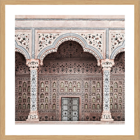Pattern on Taj Photographic Print with Frame