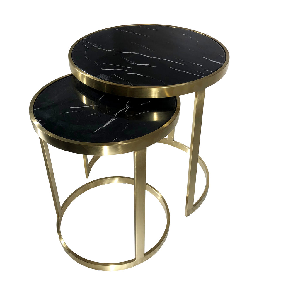 Monique Side Table Set/2 Black